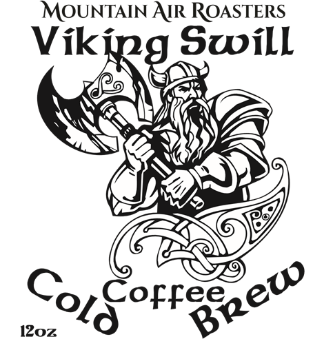 Logo for Mountain Air roasters Viking Swill cold brew coffee